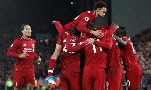 Liverpool tiếp tục bay cao trên đỉnh bảng Ngoại hạng Anh sau trận đấu đêm 29/12. Ảnh: Reuters.