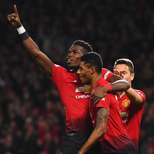 Pogba ghi đậm dấu ấn vào ba chiến thắng thời hậu Mourinho. Ảnh: Reuters.
