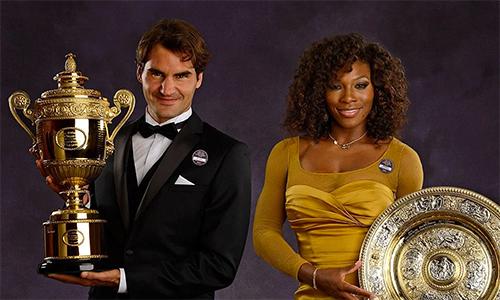 Federer giành 20 Grand Slam, còn Serena sở hữu 23 Grand Slam, nhiều nhất trong số các tay vợt đương đại. Ảnh: USA Today.