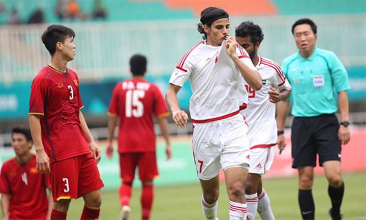 UAE từng giành HC đồng Asiad 2018 sau khi vượt qua Việt Nam trên loạt luân lưu. Ảnh: Lâm Thỏa.