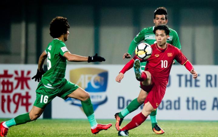 Việt Nam gieo sầu cho Iraq khi hai đội gặp nhau ở tứ kết U23 châu Á 2018. Ảnh: Anh Khoa.