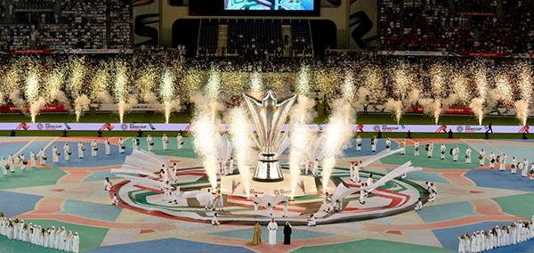 Màn pháo sáng cuổi buổi lễ khai mạc Asian Cup 2019.