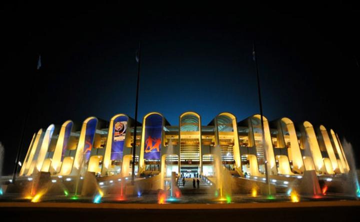 Sân Zayed Sports City, nơi sẽ diễn ra lễ khai mạc Asian Cup và tám trận đấu tại giải, trong đó có trận Việt Nam Iraq ngày 8/1.
