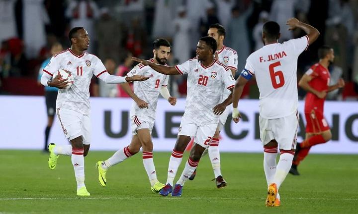 Khalil (số 11) giữ lại một điểm cho UAE sau khi được tung vào sân ở cuối trận. Ảnh: Fox.