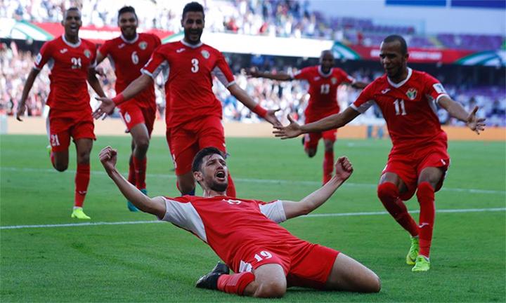 Anas Basi Yaseen mừng bàn thắng định đoạt trận đấu. Ảnh: AP.