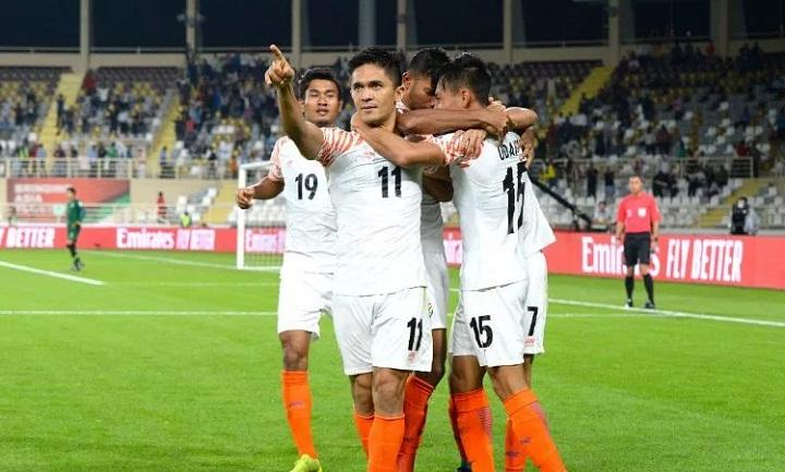 Chhetri là đầu tàu, giúp Ấn Độ tạo nên địa chấn ở trận ra quân Asian Cup. Ảnh: Fox.