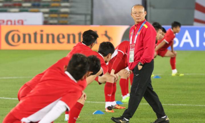 HLV Park và học trò bước vào thử thách cực đại ở Asian Cup. Ảnh: AFC.