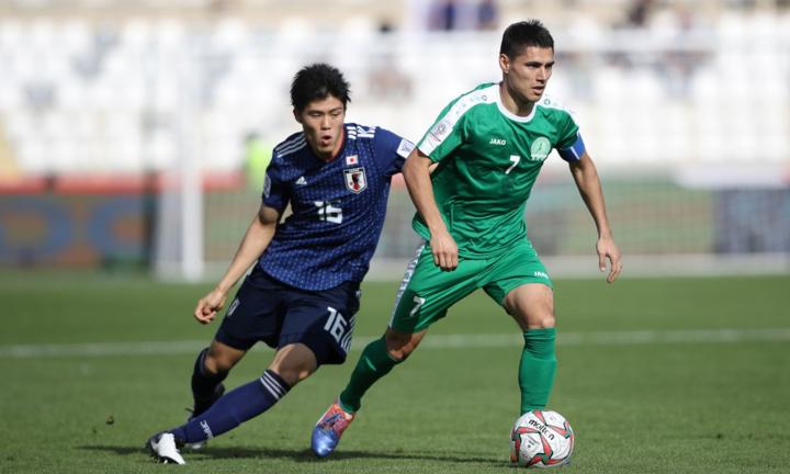 Turkmenistan khiến Nhật Bản phải vất vả tới những giây cuối cùng. Ảnh: AFC.