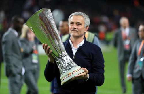 Chức vô địch Europa League là một trong ba danh hiệu của Mourinho tại Man Utd. Ảnh: AFP.