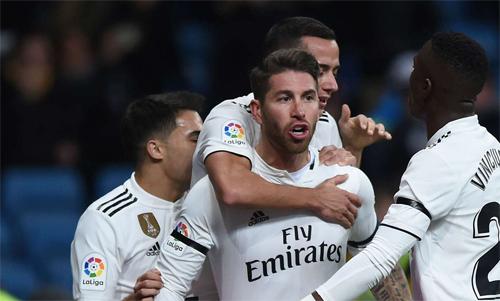 Ramos có tỷ lệ lập công không kém một số tiền đạo ngôi sao. Ảnh: Reuters