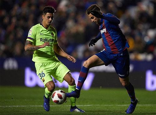 Levante cho Barca một bài học về sự chủ quan.