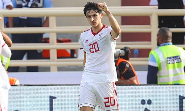 Azmoun ghi bốn bàn sau hai trận vòng bảng Asian Cup 2019.