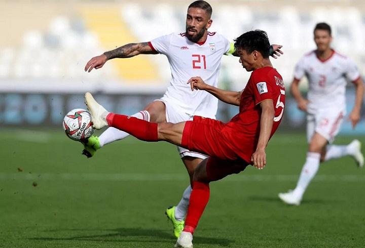 Việt Nam không thể gây bất ngờ trước màn trình diễn vượt trội về đẳng cấp của Iran. Ảnh: Fox.