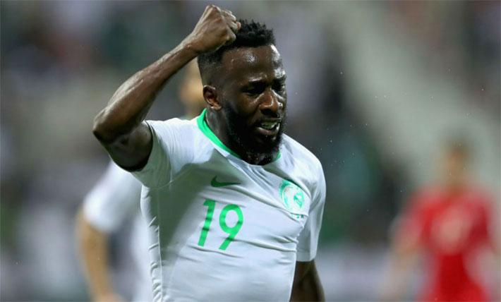 Fahad Al-Muwallad có hai bàn từ hai trận đầu. Ảnh: Reuters
