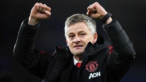 Solskjaer toàn thắng sáu trận đầu tiên cùng Man Utd. Ảnh: PA.