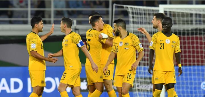 Australia giành chiến thắng vào phút bù giờ thứ ba. Ảnh: AFC.