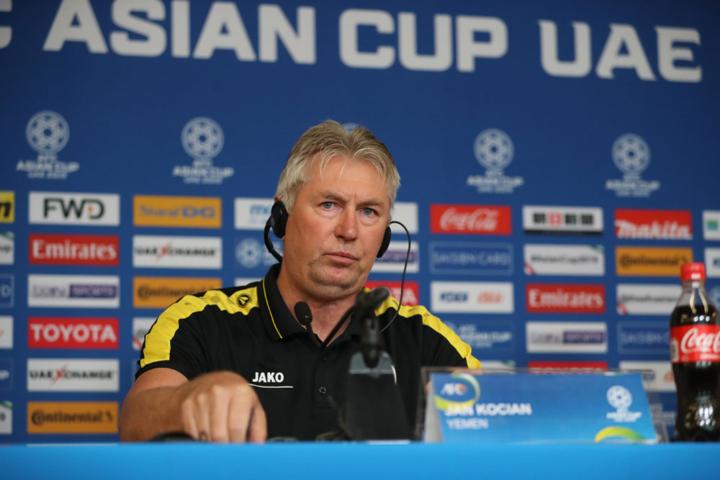HLV Kocian kỳ vọng Yemen chia tay Asian Cup với một màn trình diễn tốt. Ảnh: Văn Lộc.