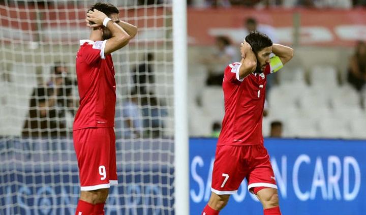 Lebanon mất suất đi tiếp vì nhiều hơn Việt Nam hai thẻ vàng. Ảnh: AFC.