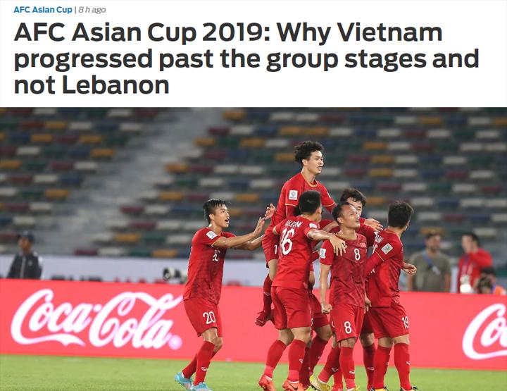 Fox Sports Asia phải dành riêng một bài viết để giải thích Tại sao Việt Nam đi tiếp, chứ không phải Lebanon, dù hai đội bằng điểm và các chỉ số phụ.
