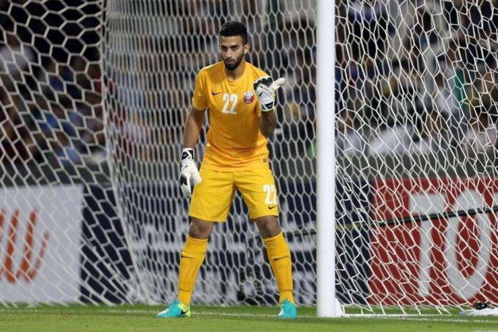 Al Sheeb trong khung thành của Qatar.