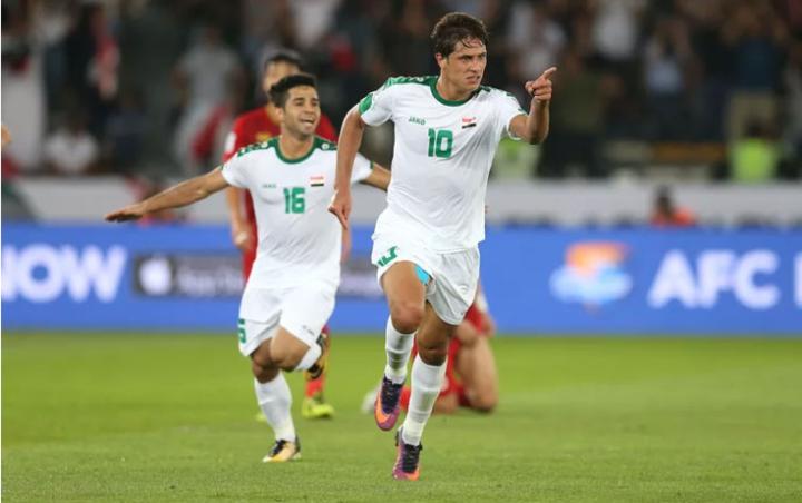 Mohanad Ali ghi bàn trong trận gặp Việt Nam. Ảnh: AFC.