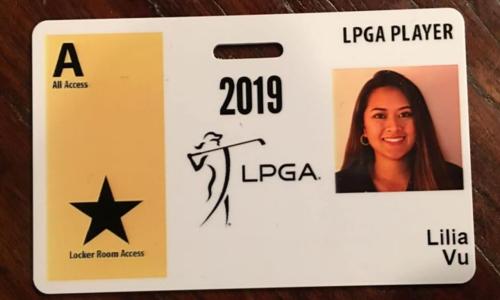 Thẻ LPGA Tour của Lilia Vũ. Ảnh: Instagram.