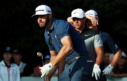 Johnson sẽ có cơ hội so tài trực tiếp với cùng lúc với Justin Rose, Brooks Koepka và nhiều tên tuổi lớn khác của làng golf. Ảnh: AFP.