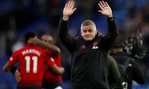 Solskjaer tiếp tục chuỗi ngày ngọt ngào với Man Utd trước khi bước vào vòng 1/8 Champions League. Ảnh: Reuters.