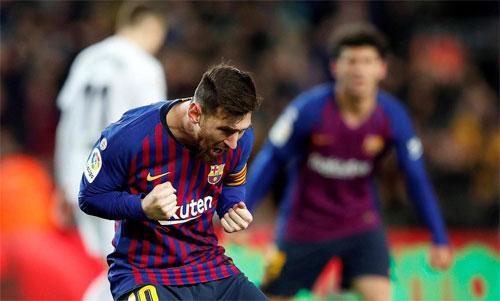 Messi đang hướng đến Giày vàng thứ ba liên tiếp. Ảnh: Reuters