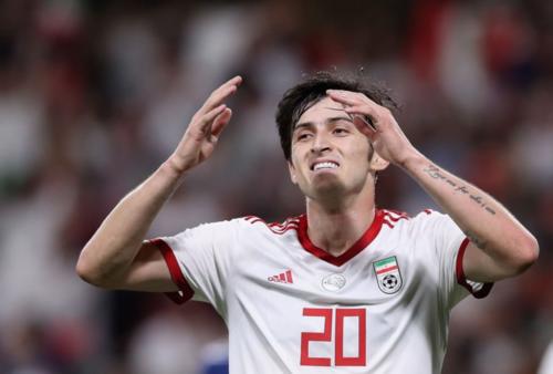 Azmoun là cầu thủ nổi bật nhất của Iran ở Asian Cup 2019. Ảnh:AFC.