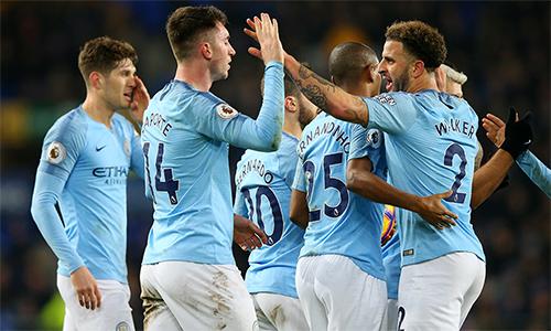 Man City lên đỉnh bảng Ngoại hạng Anh lần đầu sau gần hai tháng. Ảnh: Sky.