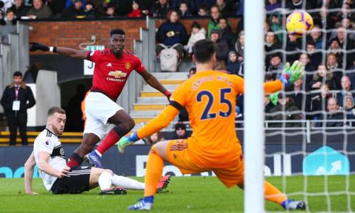 Pogba ghi bàn mở tỷ số cho Man Utd. Ảnh: AFP.