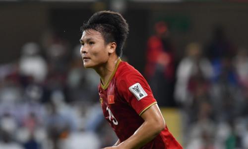 Quang Hải gây ấn tượng với tuyệt phẩm đá phạt vào lưới Yemen. Ảnh: AFC.