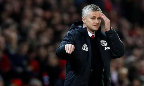 Solskjaer nhận trận thua đầu tiên khi dẫn dắt Man Utd. Ảnh: AFP.