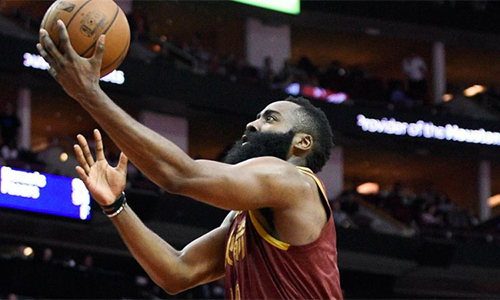 Harden ghi trung bình 36,6 điểm/trận, cao nhất NBA mùa này. Ảnh: AP.