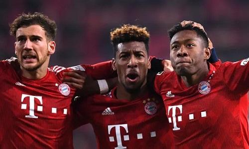 Coman và Alaba giúp Bayern chiến thắng dù hai lần bị dẫn bàn. Ảnh: Reuters.