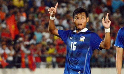 Saringkan ghi bàn duy nhất giúp Thái Lan chiến thắng.