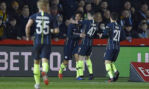 Man City còn nguyên cơ hội đoạt cú ăn ba quốc nội trong mùa 2018-2019. Ảnh: PA.