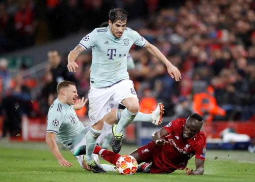 Bayern có lợi thế nhỏ khi không thua khi làm khách tại Anfield. Ảnh:Reuters.