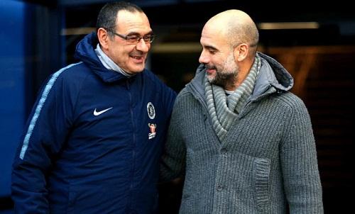 Guardiola đánh giá cao Sarri, khuyên Chelsea nên kiên nhẫn với HLV người Italy. Ảnh: Reuters.