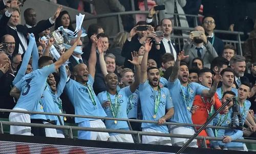 Bảo vệ thành công Cup Liên đoàn là động lực để Man City trở lại cuộc đua tại Ngoại hạng Anh. Ảnh: AFP.