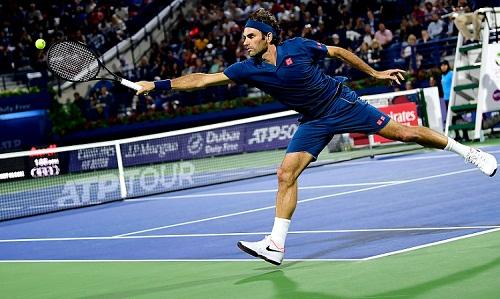 Federer giành chiến thắng thứ 50 ở giải ATP 500 tại Dubai. Ảnh: AFP.