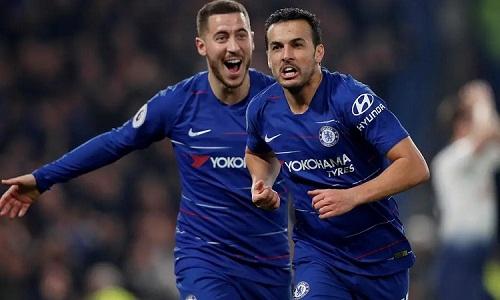 Pedro thi đấu năng nổ và mang về bàn mở tỷ số cho Chelsea. Ảnh: Reuters.