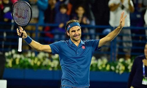 Federer tiến gần danh hiệu ATP thứ 100. Ảnh: AFP.