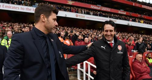 Pochettino (trái) và Emery rất tôn trọng và khâm phục khả năng của nhau. Ảnh: Reuters.