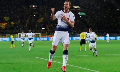Kane dẫn đầu cuộc đua vua phá lưới tại Champions League sau bàn thắng vào lưới Dortmund. Ảnh: Reuters.