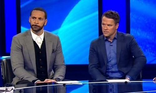 Ferdinand và Owen đều không nghĩ Man Utd xứng đáng được hưởng phạt đền. Ảnh: BT Sport.
