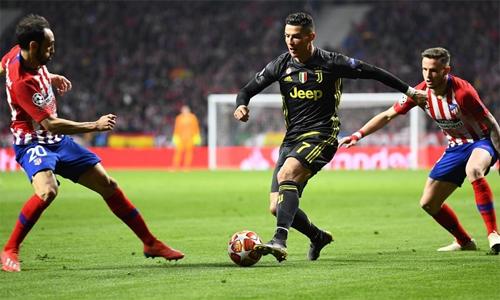 Ronaldo tin Juventus sẵn sàng đánh bại Atletico và vào tứ kết Champions League. Ảnh: AFP.
