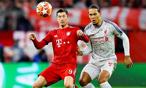 Lewandowski và các đồng đội không lần vào vượt qua được hàng phòng ngự thép của Liverpool do Van Dijk chỉ huy. Ảnh: FCB.
