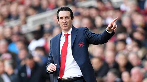 HLV Emery có thể chấm dứt cơn khát danh hiệu châu Âu của Arsenal. Ảnh:AFP.